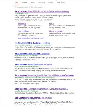 SeoCustomer on Google