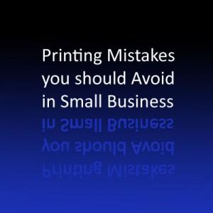 Printing Mistakes