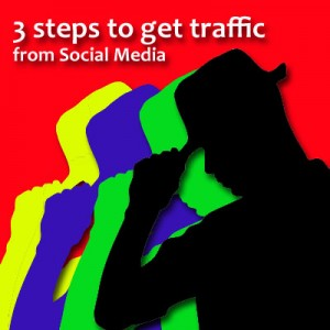 steps to get traffic from Social Media